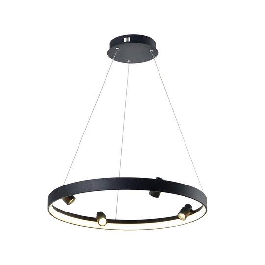 Denis LED-hengelampe, sirkelformet med 4 spotter