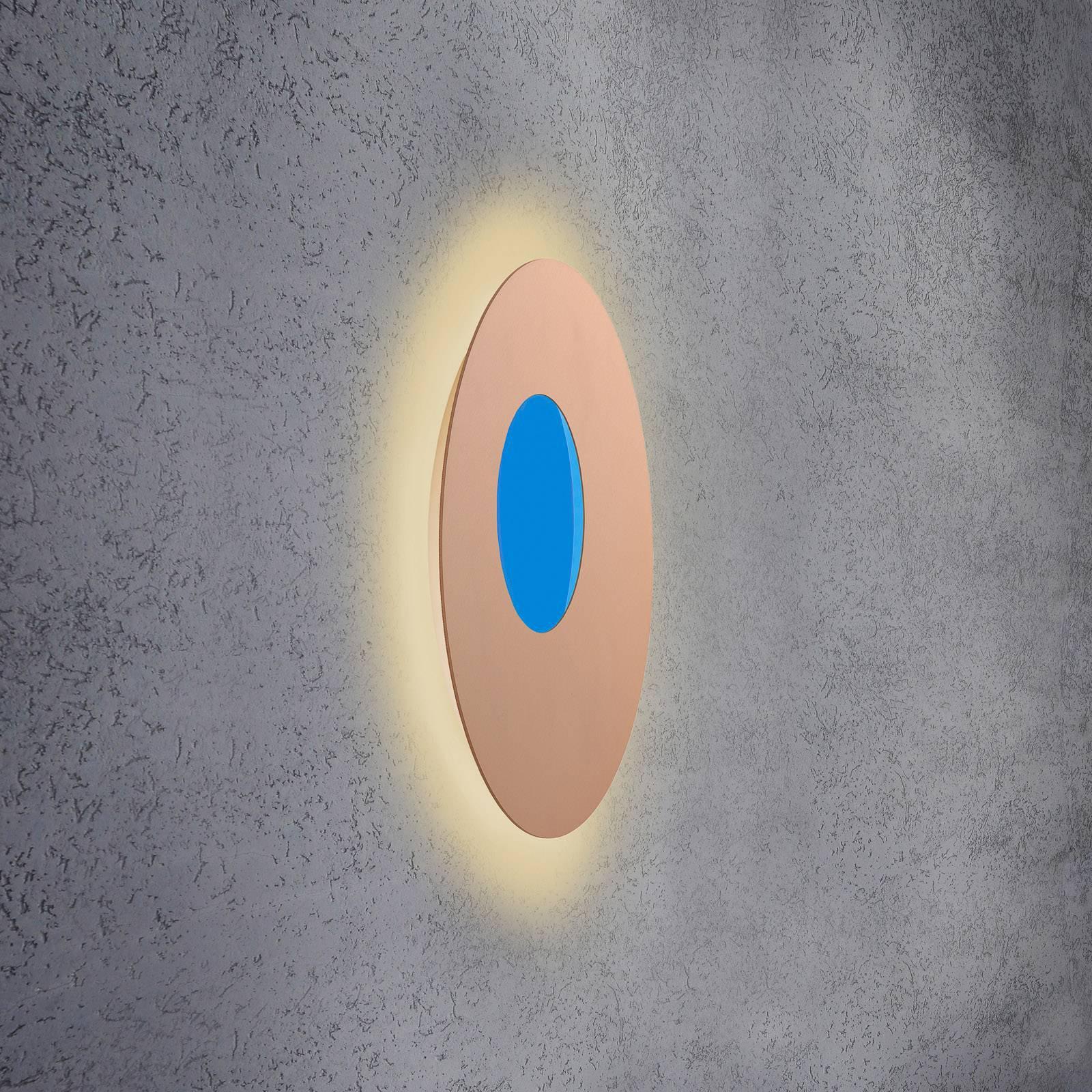 Escale Blade Open LED-vegglampe RGB+W, rosé, Ø59cm