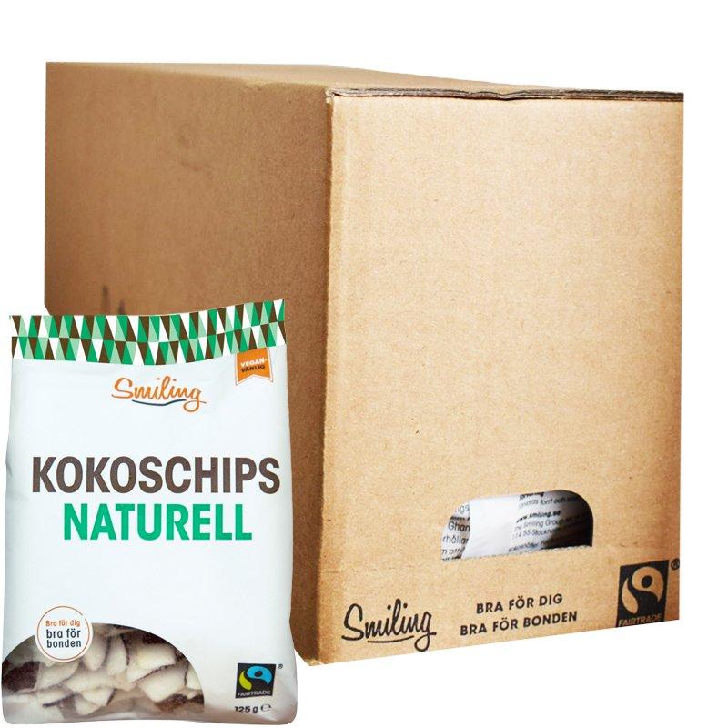 Hel Låda Kokoschips Naturell 6 x 125g - 30% rabatt
