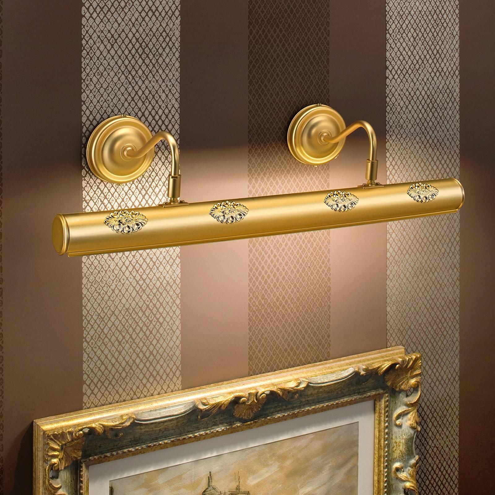 Henrika - forgylt billedlys med dekor