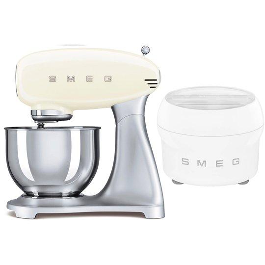 Smeg Köksmaskin och Glassmaskin, Créme / Stål