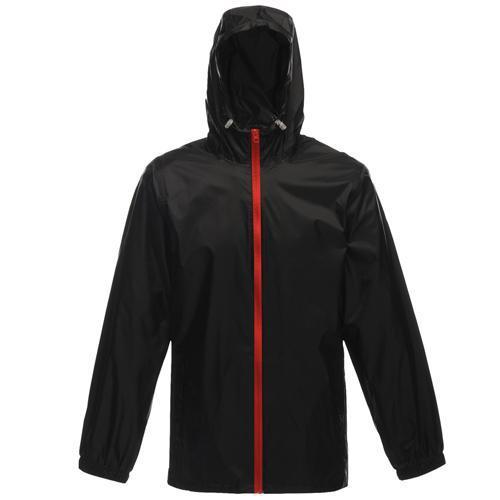 Regatta Unisex Avant Mesh Lined Waterproof Jacket Various Colours T_TRW476 - Black/Classic Red XS