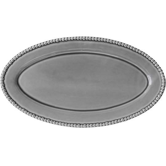 PotteryJo Daria Ovalt Uppläggningsfat 50 cm Soft Grey