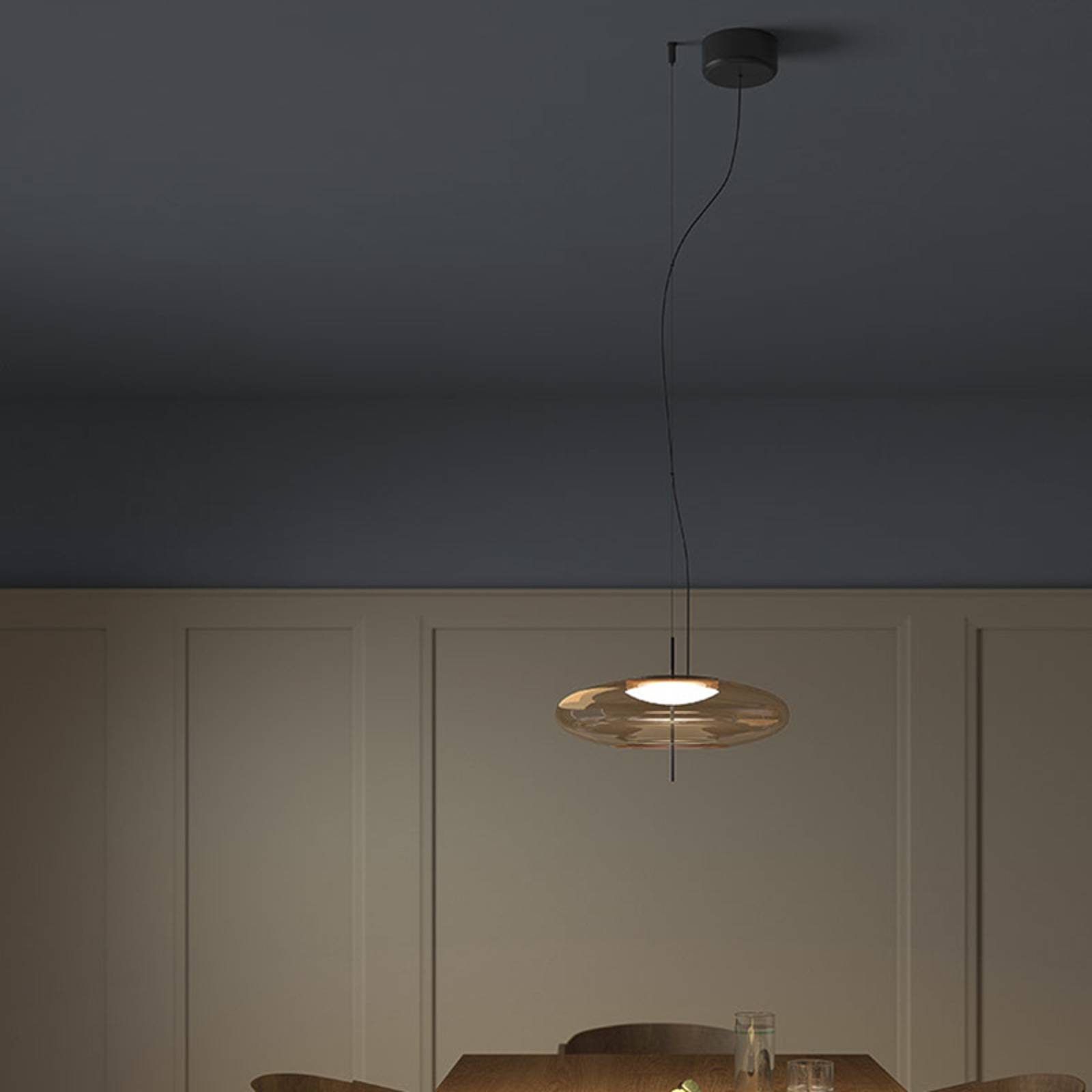 LEDS-C4 Plat-LED-riippuvalo epäkeskinen, meripihka
