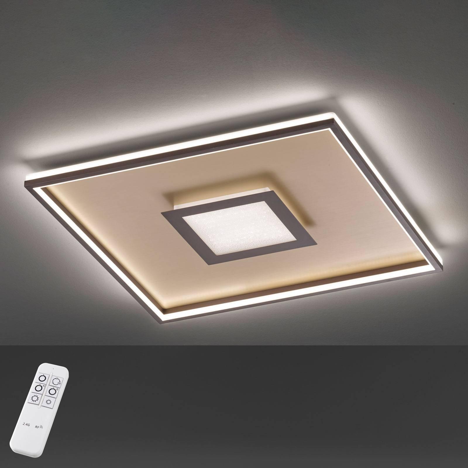 Bug LED-taklampe kvadratisk, rust 60x60