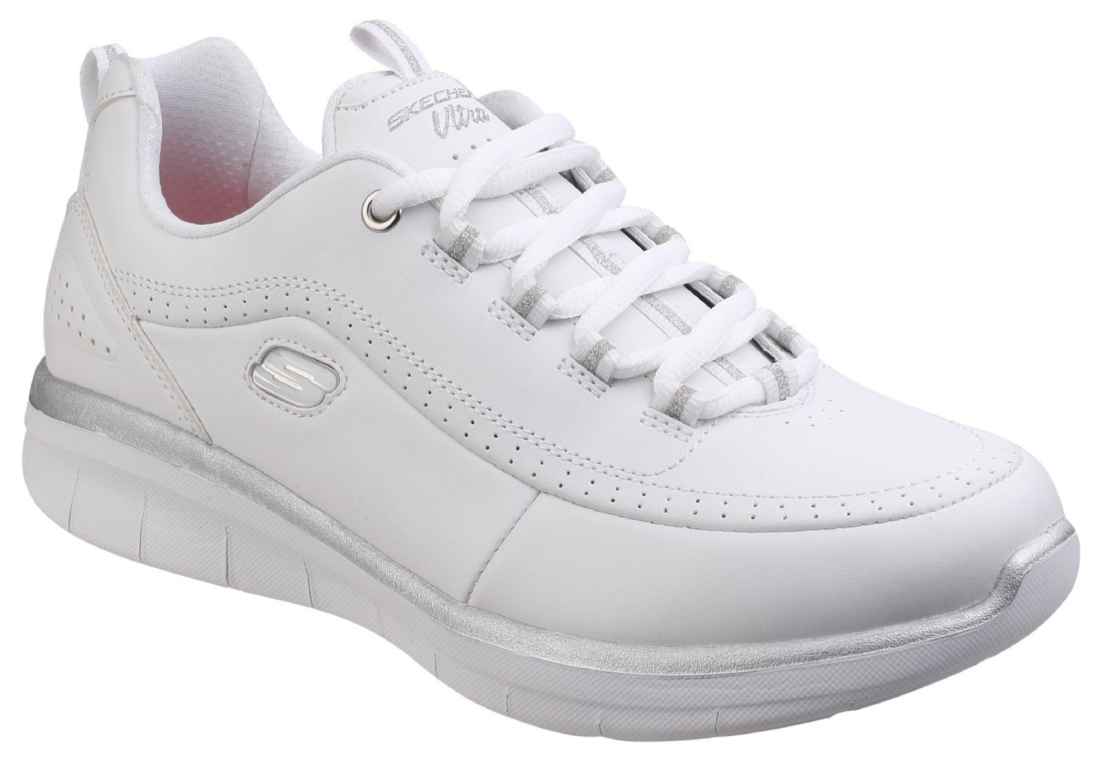 Skechers Women's Synergy 2.0 Sneaker Trainer Multicolor 25827 - White/Silver 5
