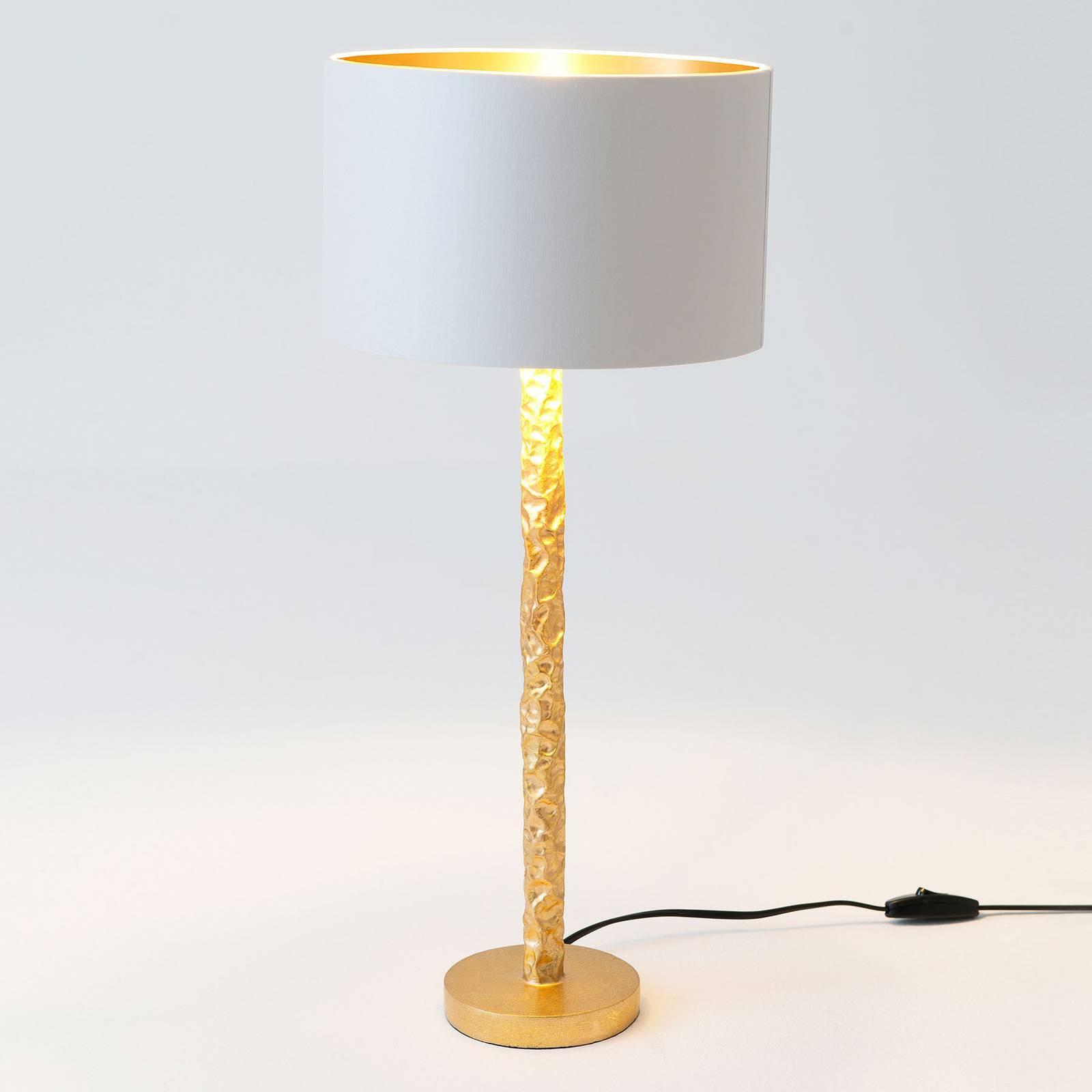 Bordlampe Cancelliere Rotonda, hvit/gull, 57 cm