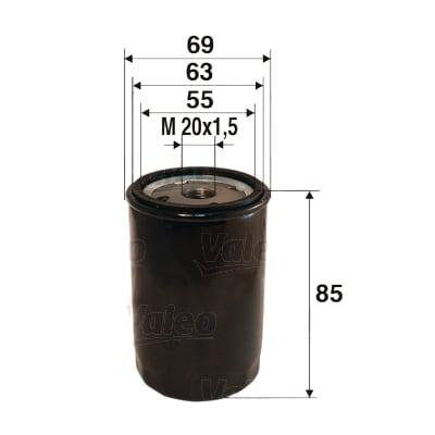 Öljynsuodatin VALEO 586013