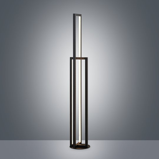 Lucande Hylda -LED-lattiavalaisin, musta