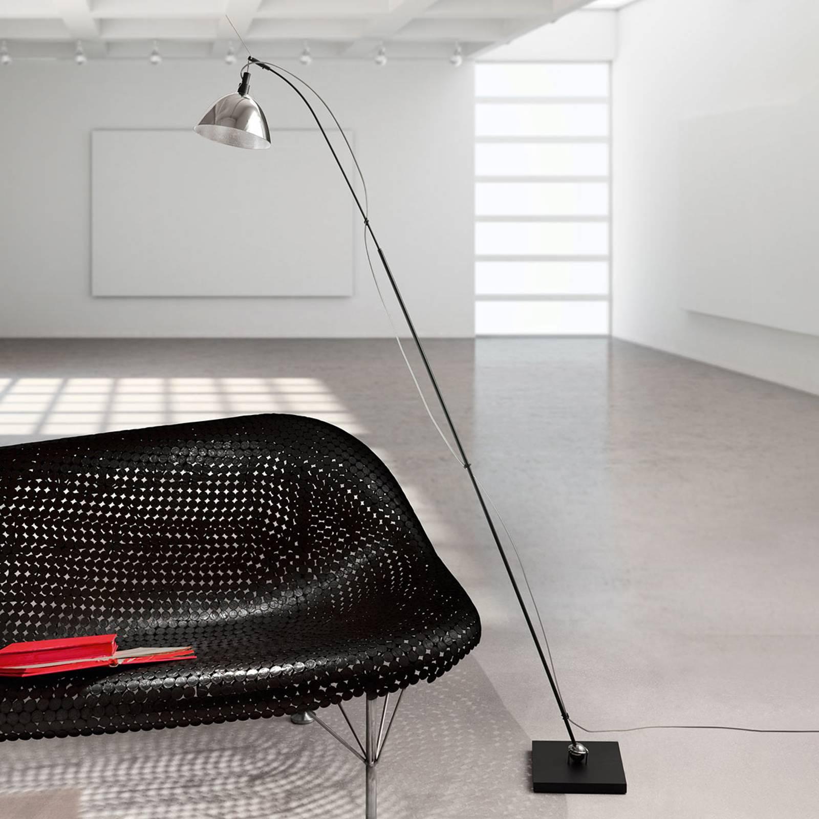 Ingo Maurer–Max. Floor -lattiavalaisin, alumiini