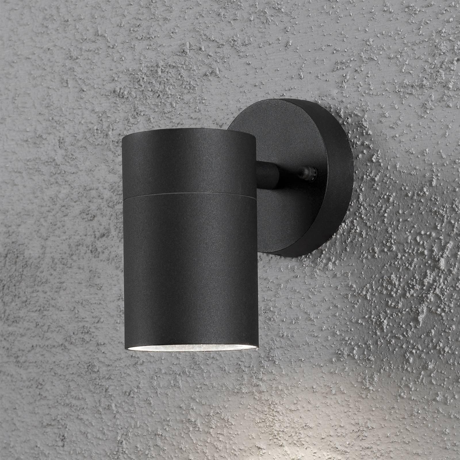 Utendørs NEW MODENA vegglampe med ett lys i svart