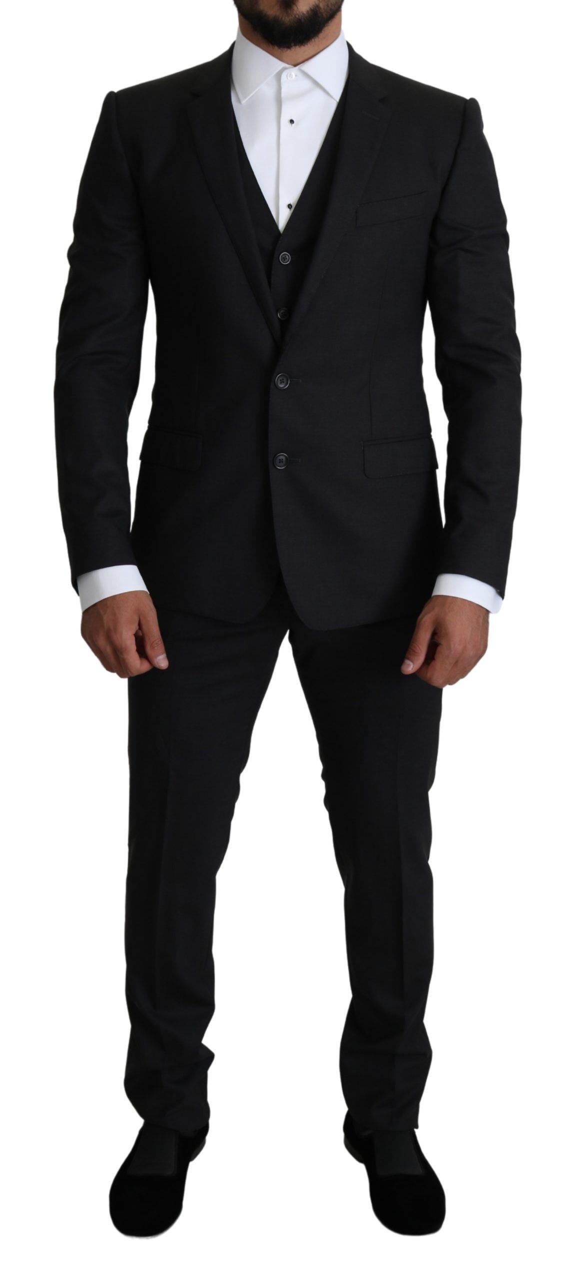 Dolce & Gabbana Men's MARTINI Wool Stretch Suit Gray KOS1818 - IT48 | M