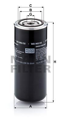 Öljynsuodatin MANN-FILTER WD 962/32