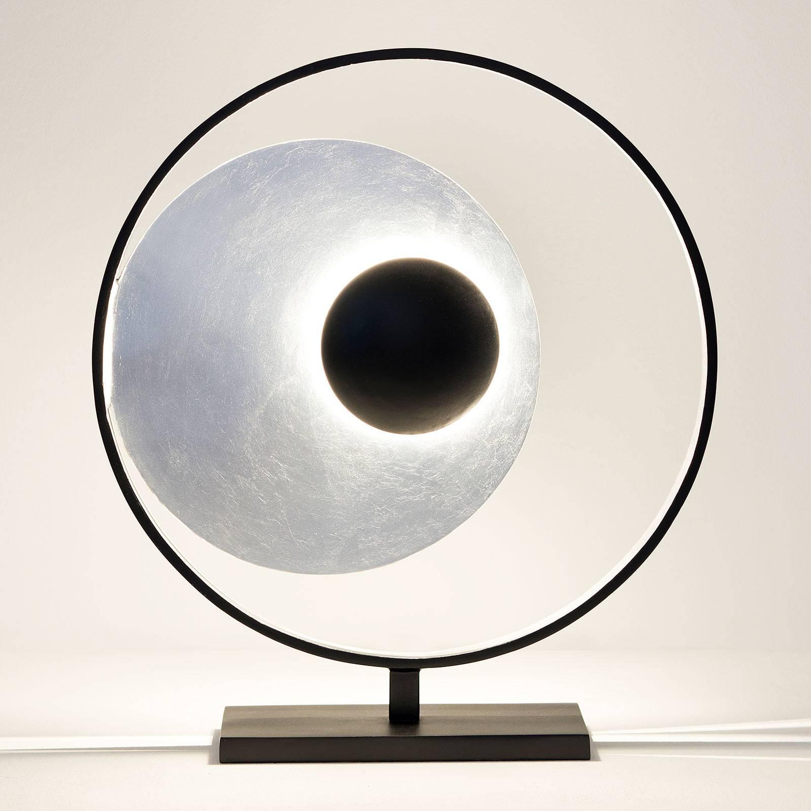 Pöytävalaisin Satellite, hopea-musta, korkeus 58cm
