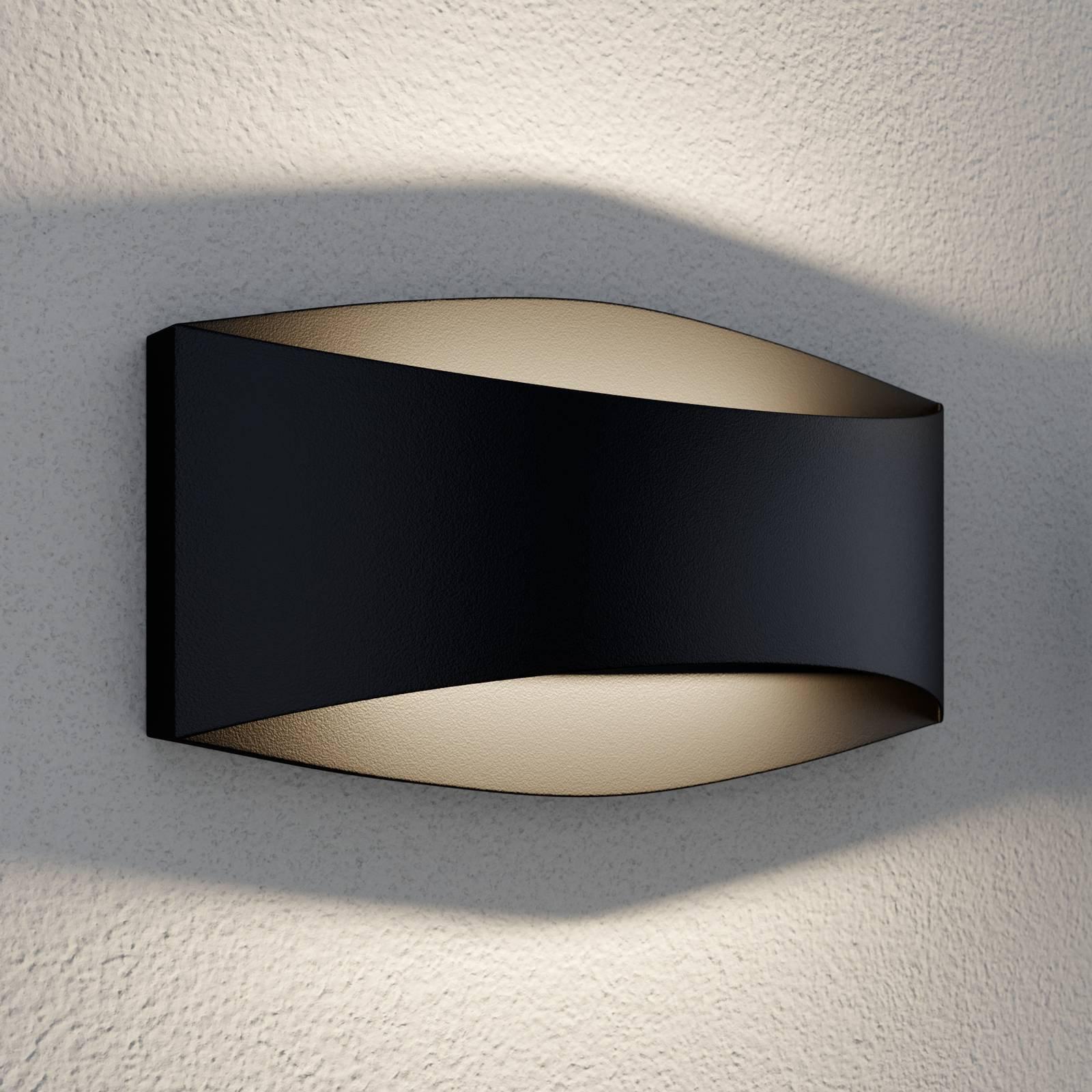 Lindby Evric utendørs LED-vegglampe, 20,3 cm bred