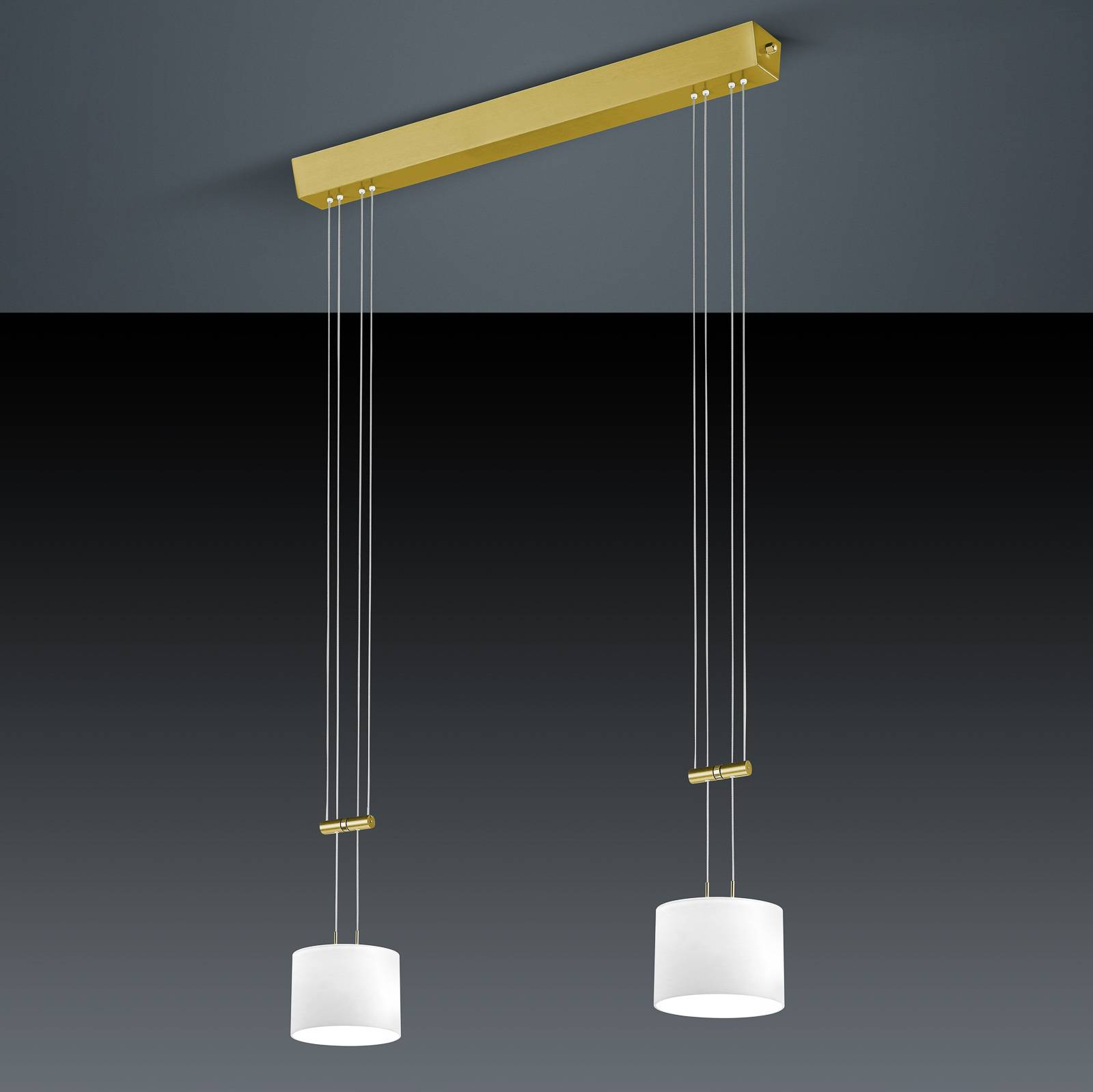 BANKAMP Grazia riippuvalaisin 2-lamp messinki