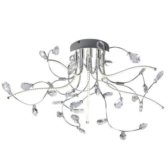 Krominkiiltävä LED-kattovalaisin Crystal, 54 cm
