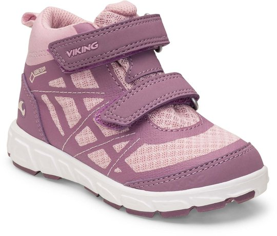 Viking Veme Mid GTX Sneaker, Violet/Pink, 22