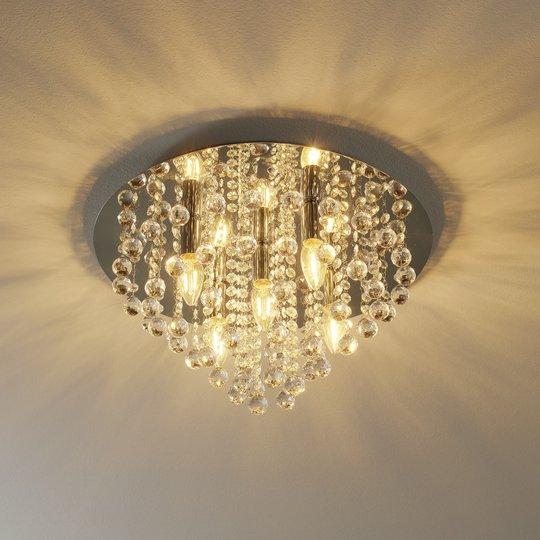 Kiiltävä 5-lamppuinen Linden-kattovalaisin