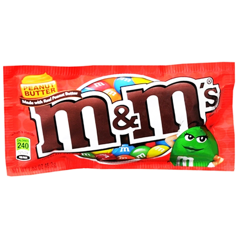 "Godis ""Peanut Butter M&M's"" 46,2g - 44% rabatt"