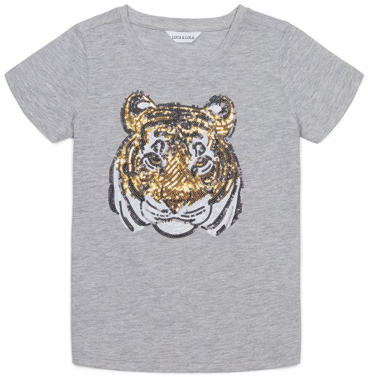 Luca & Lola Tina T-shirt, Grey Melange 134-140