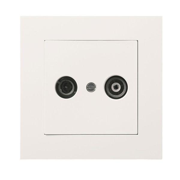Elko EKO04006 Antenneuttak med kontakt Hvit, 7 dB