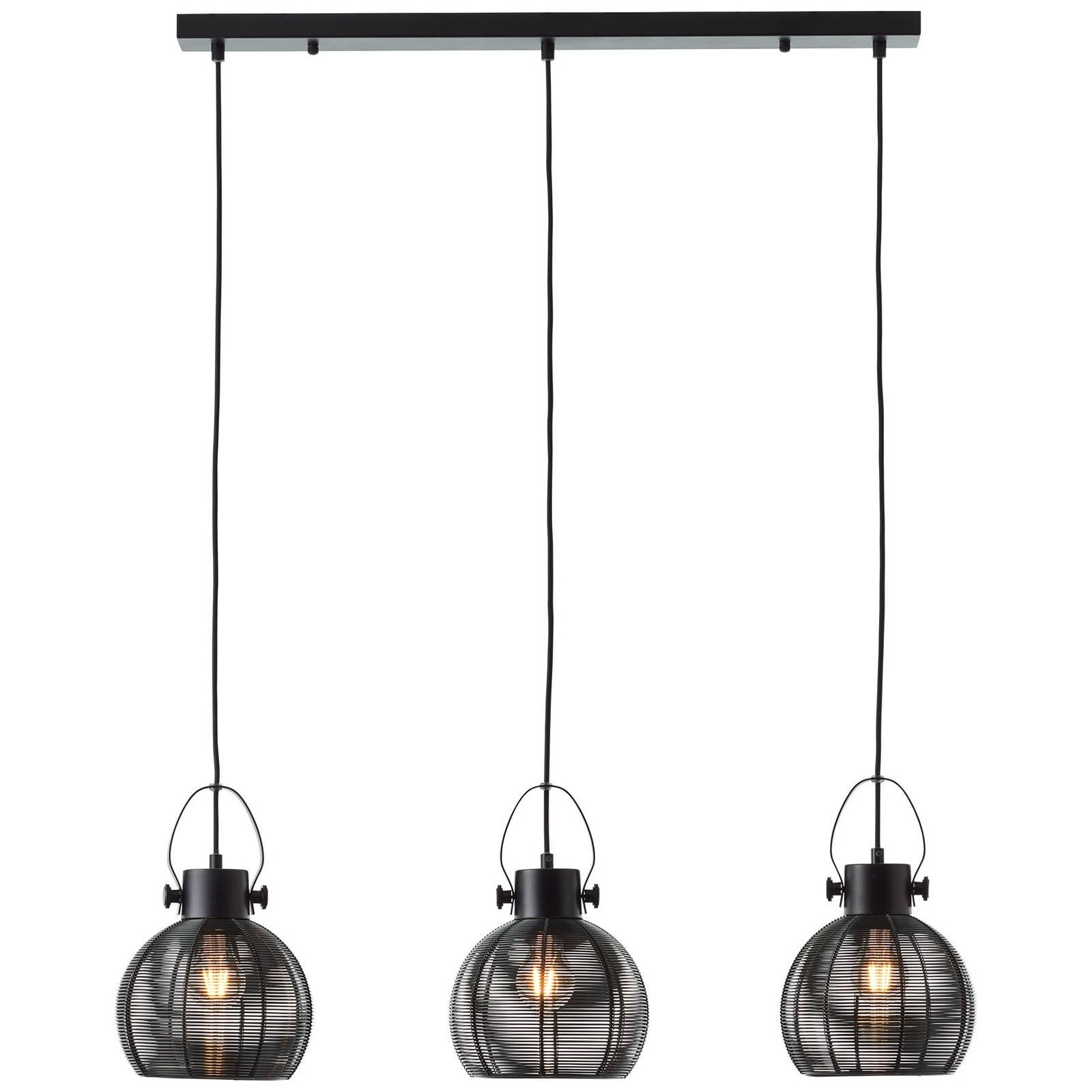 Riippuvalaisin Sambo, tanko, 3-lamppuinen, musta