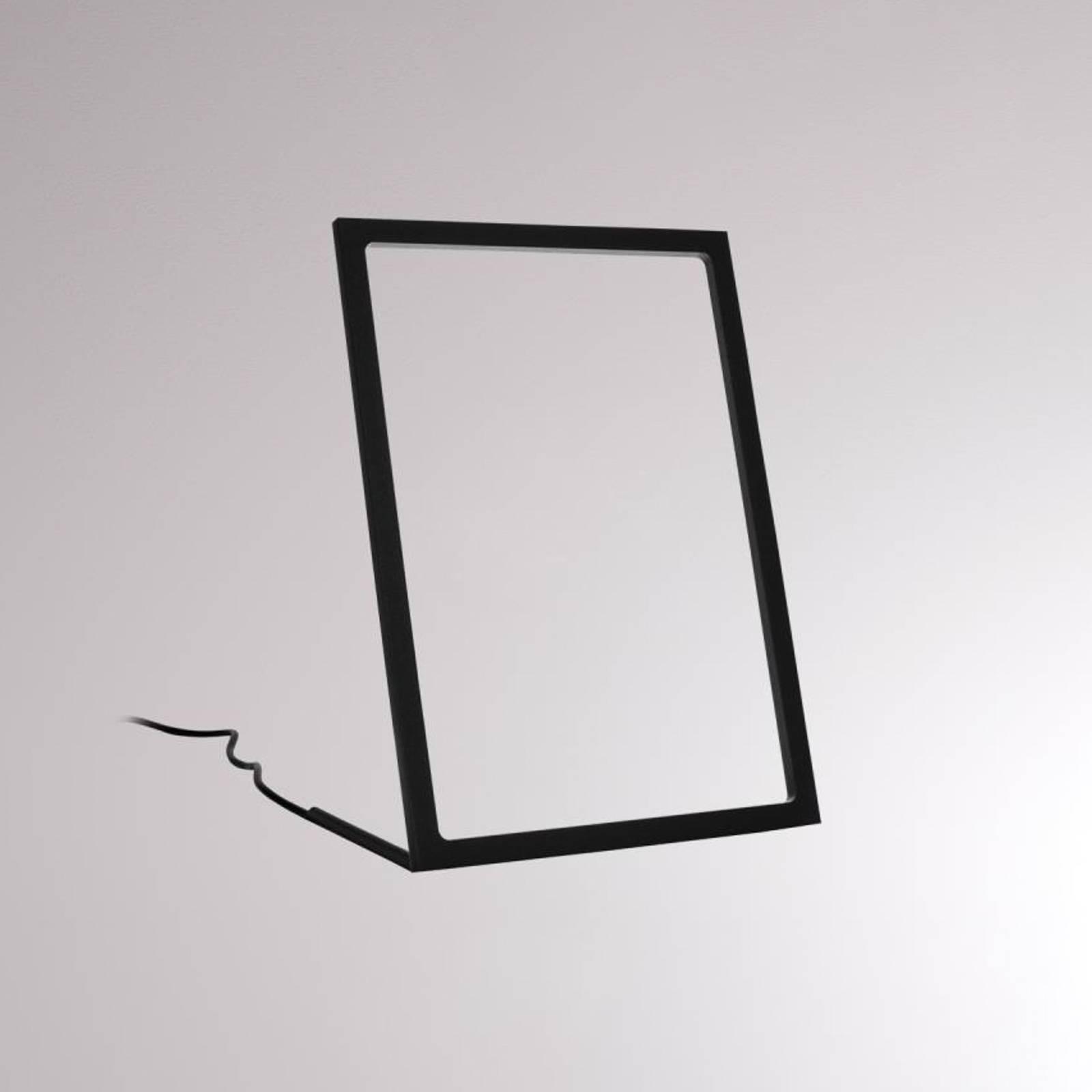 LOUM Gone -LED-pöytälamppu, musta, korkeus 29,5 cm