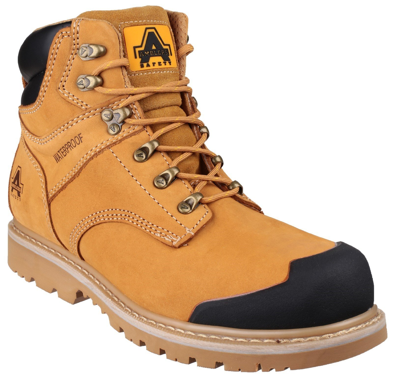 Amblers Unisex Safety Welted Waterproof Lace up Industrial Boot Honey 20434 - Honey 6