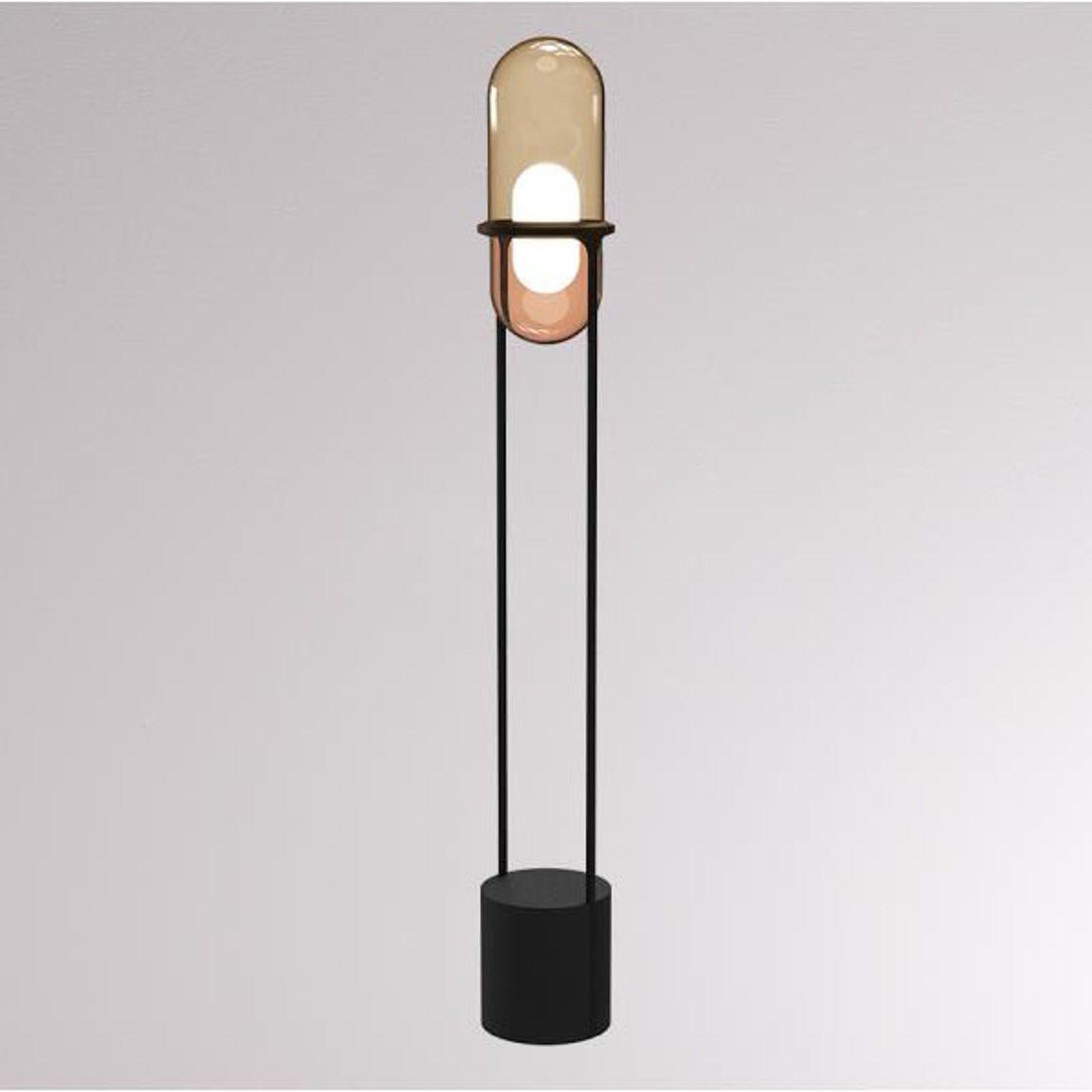 LOUM Pille -LED-lattiavalo samppanja/kupari