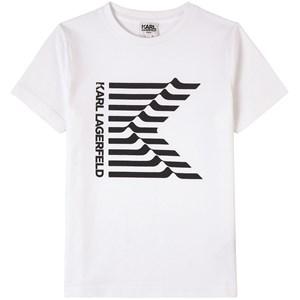 Karl Lagerfeld Kids Logo Print T-shirt Vit 4 år
