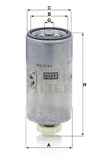 Polttoainesuodatin MANN-FILTER WK 8044 x