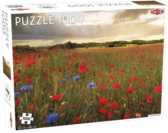 Tactic Puslespill Field of Flowers 1000 brikker