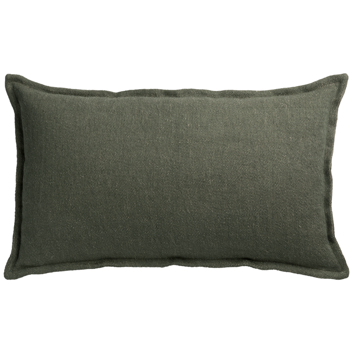 de Le Cuona | Classic Linen Cushion with Self Flange Pine