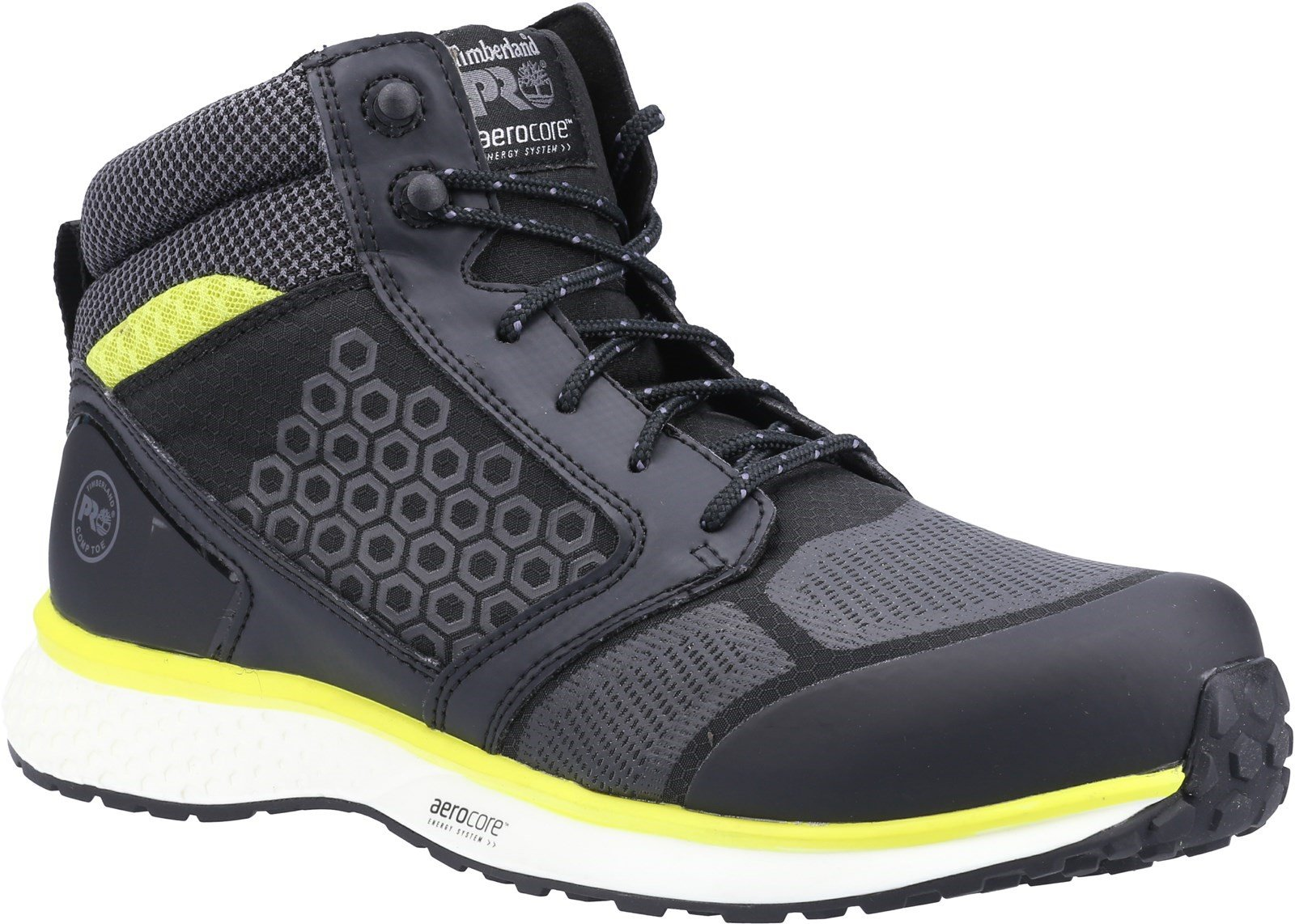 Timberland Pro Unisex Reaxion Mid Composite Safety Boot Various Colours - Black/Yellow 6