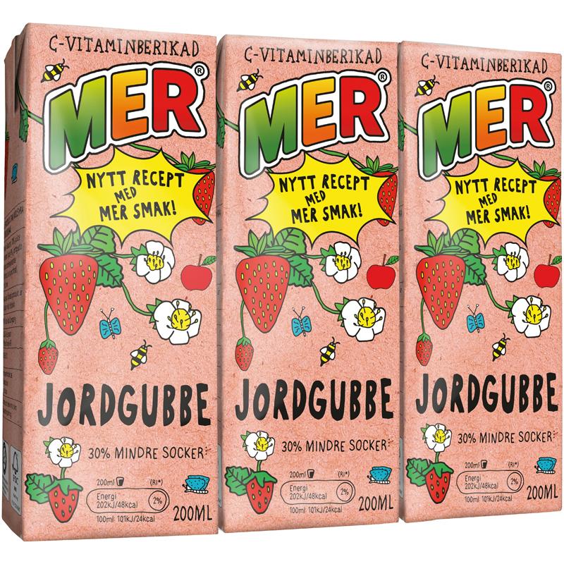 MER Jordgubbe 3-pack - 33% rabatt