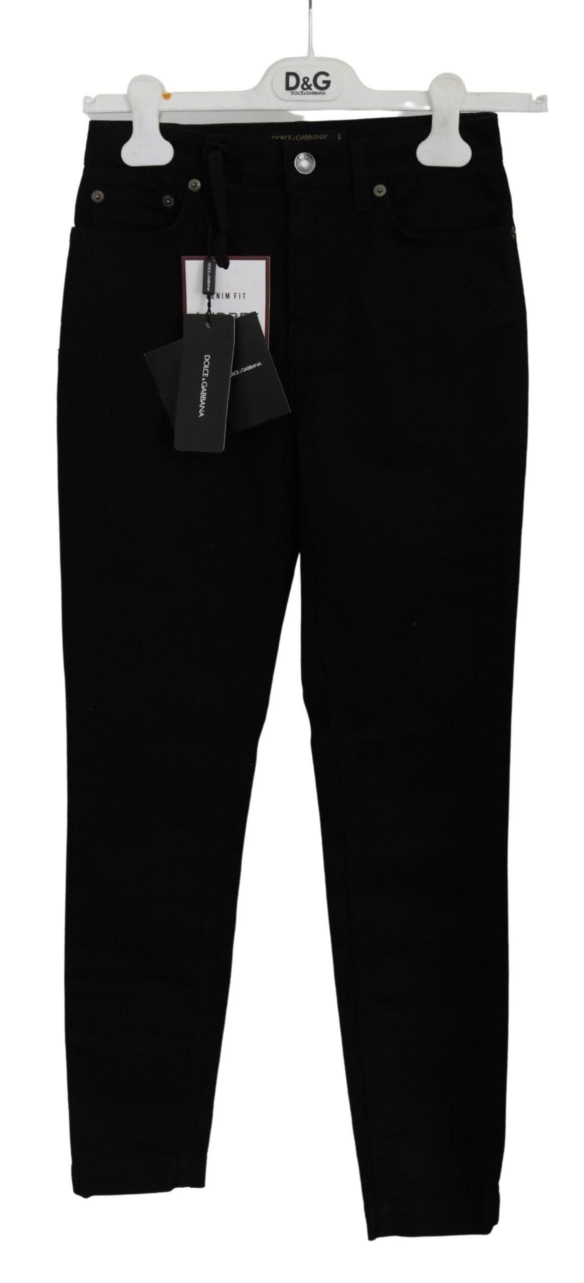 Dolce & Gabbana Women's Skinny Cotton Stretch Jeans Black PAN71116 - IT36 | XS