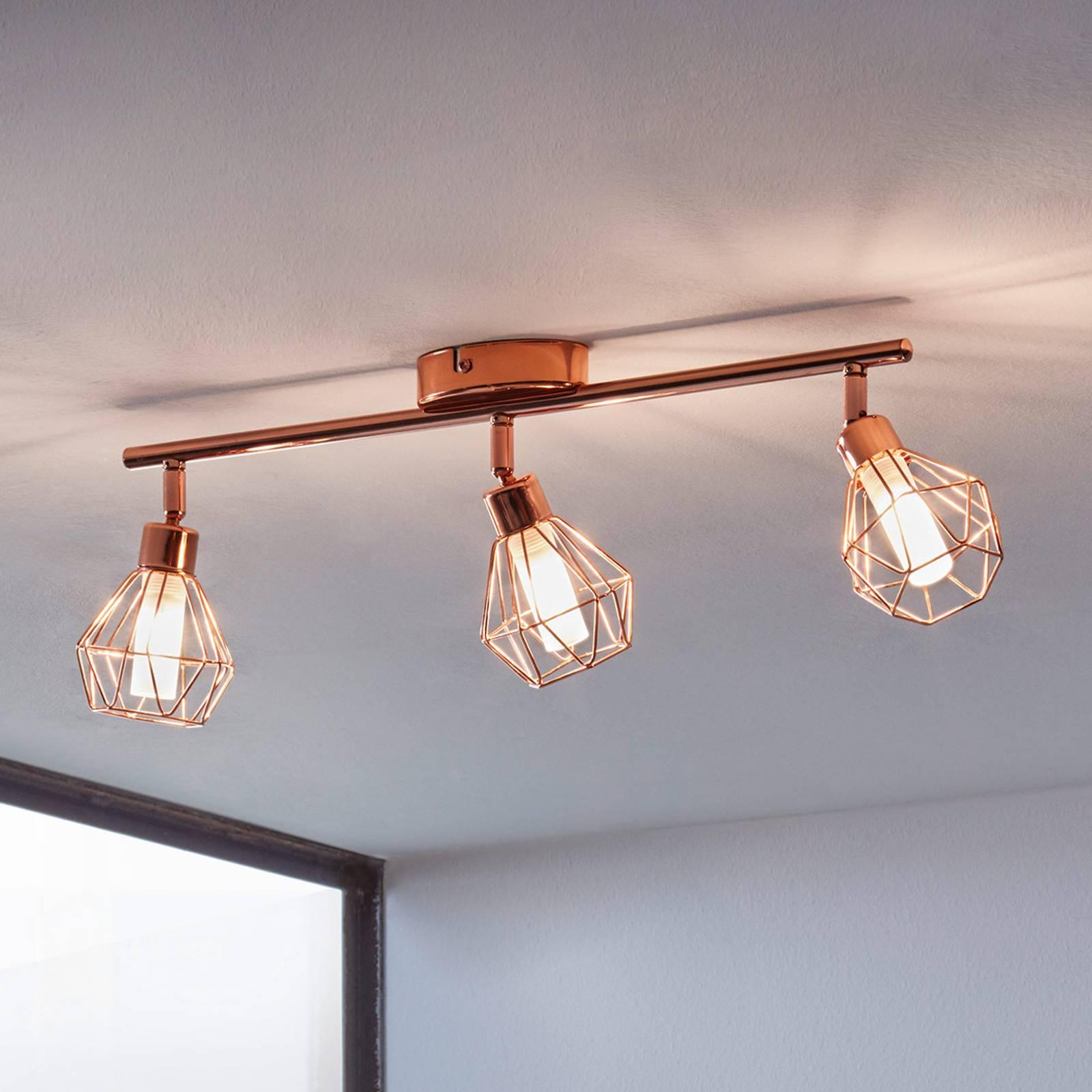 LED-kattovalaisin Zapata, kolmilamppuinen