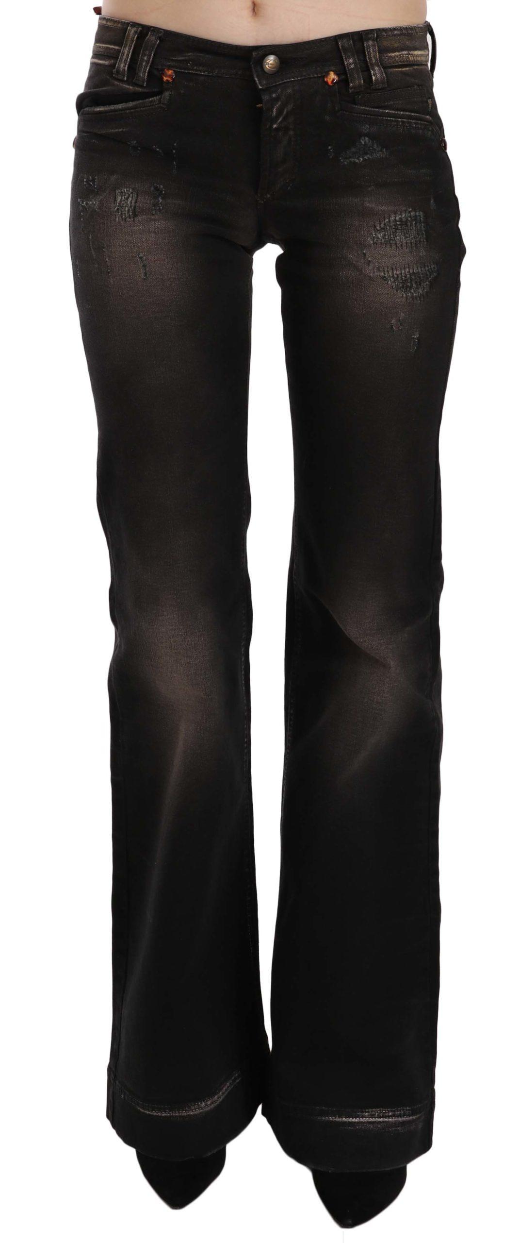 Just Cavalli Women's Low Waist Boot Cut Denim Trouser White PAN70351 - W25