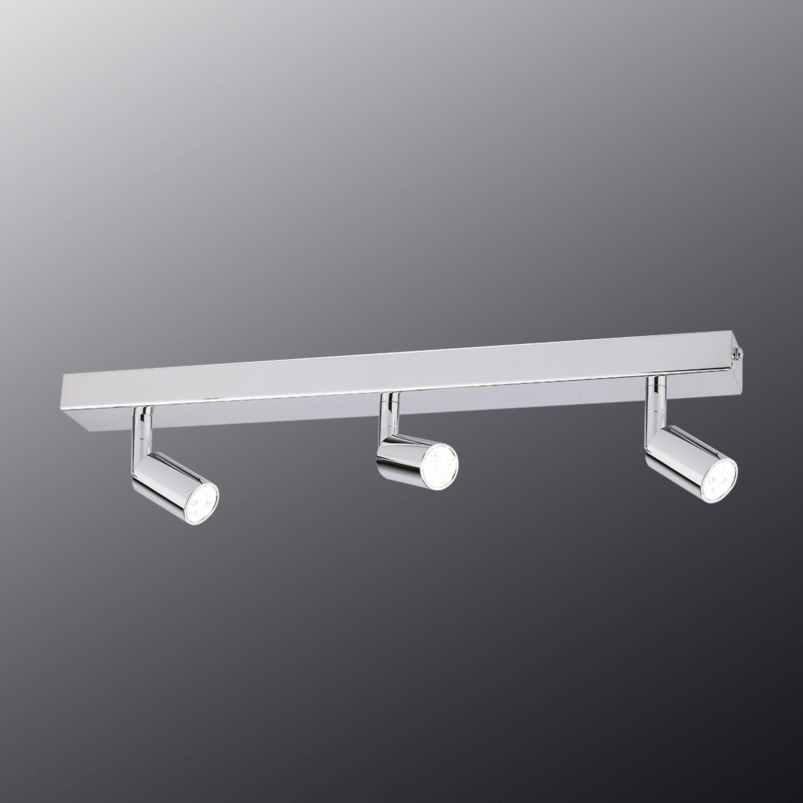Moderne taklampe med LED-list og tre lys