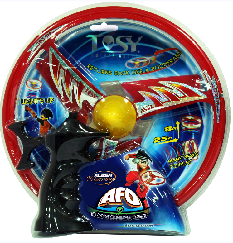 The Tosy UFO Flying Spinner - AFO LED Flash - Red