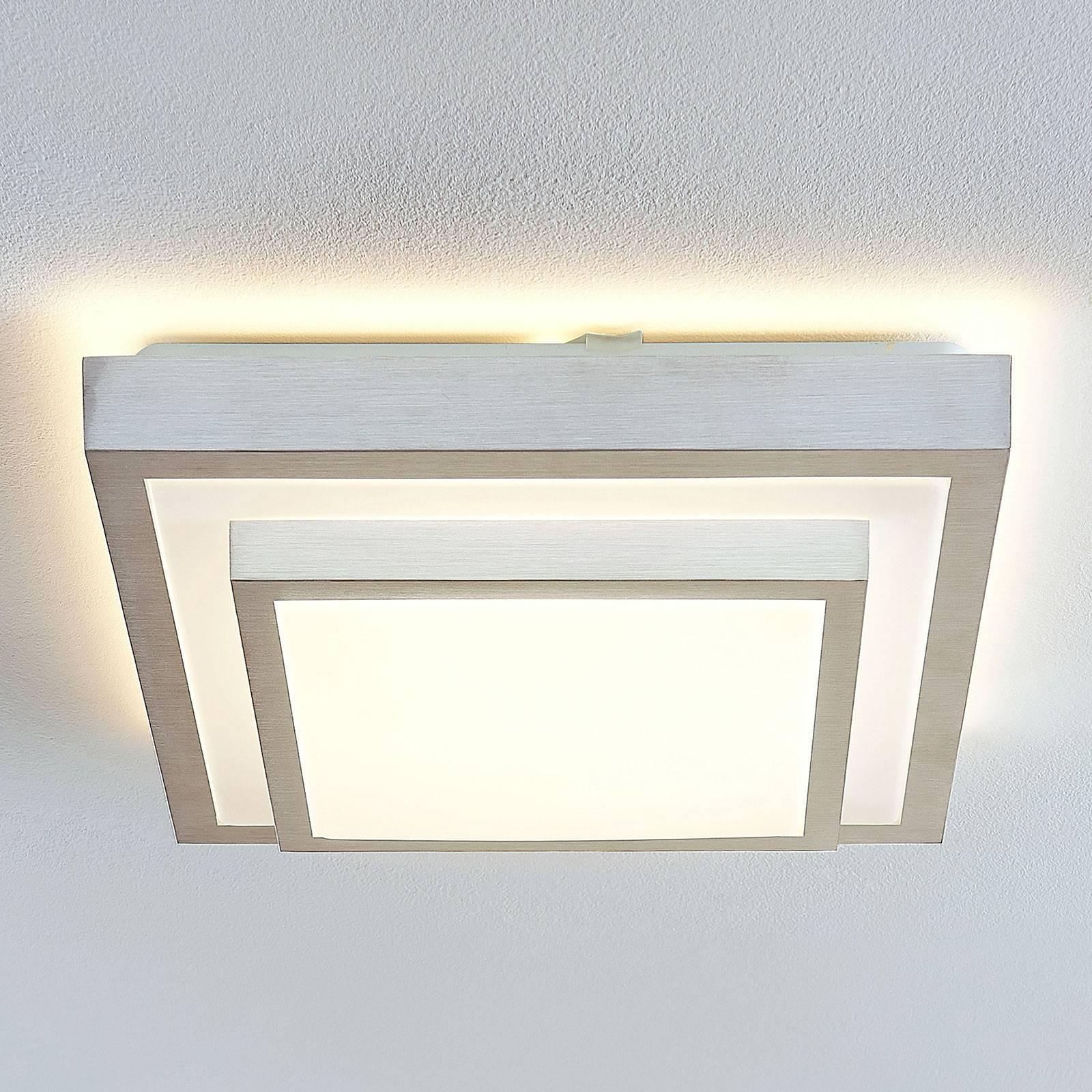Lindby Mirco LED -kattovalaisin kulmikas, 37,5 cm