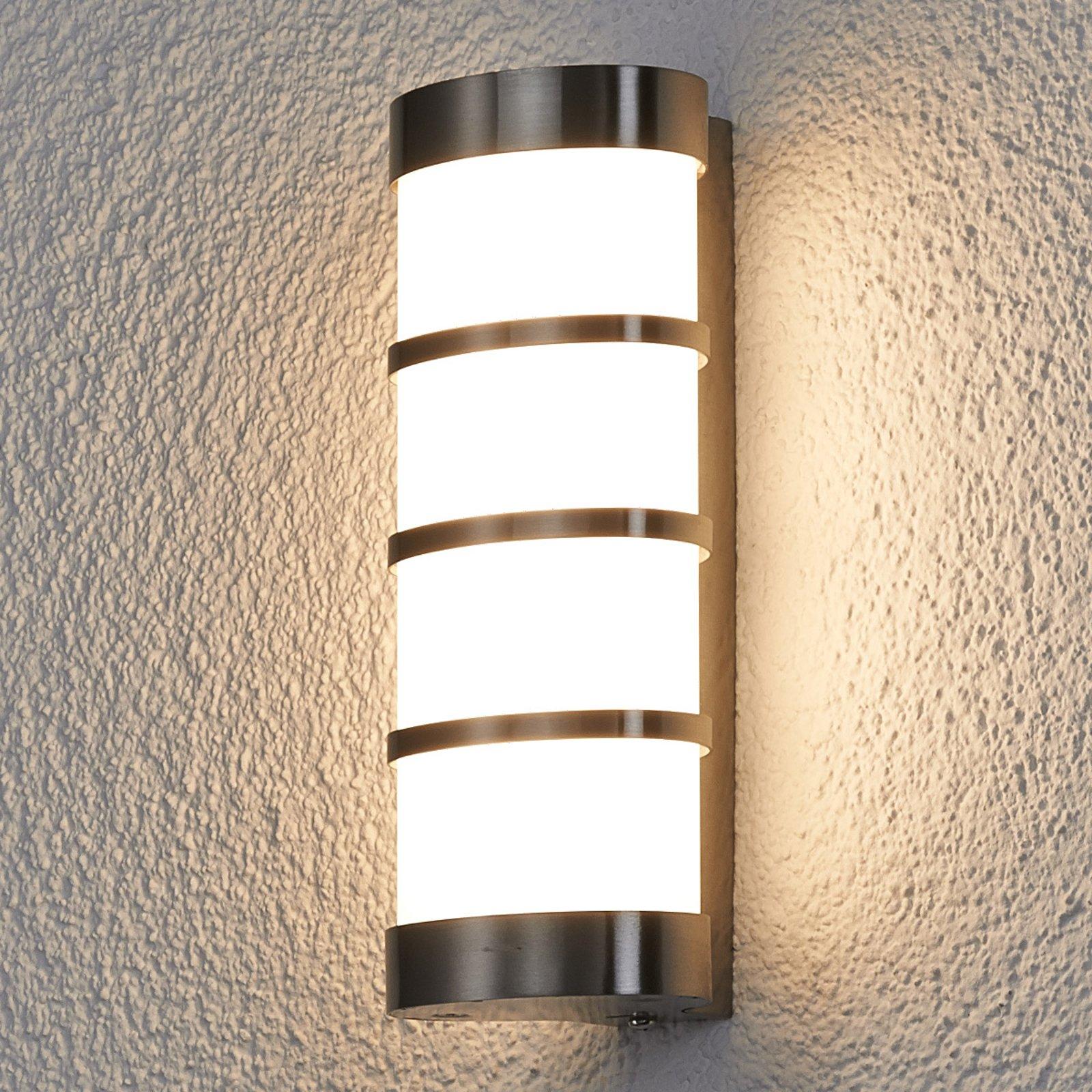 LED utendørs vegglampe Leroy av rustfritt stål