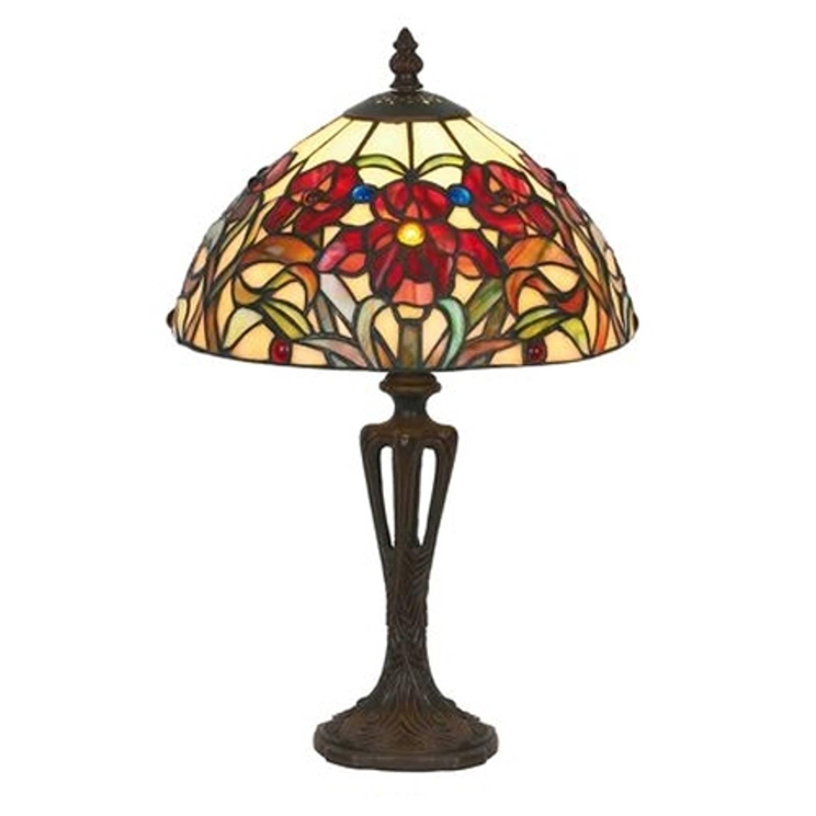 Tiffany-tyylinen ELINE-pöytävalaisin, 40 cm