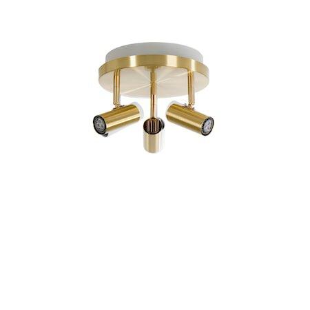 Cato LED 3-spot Messing m/Raking light