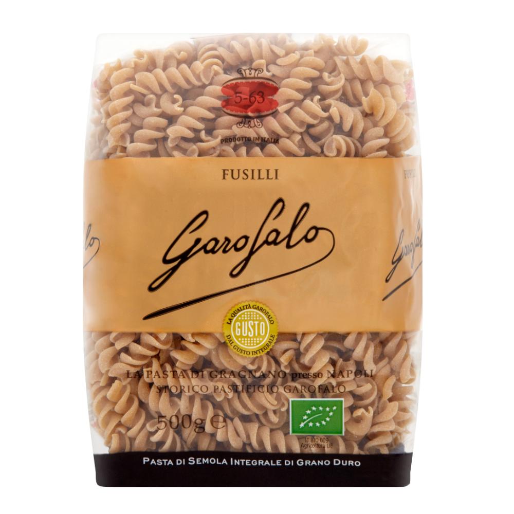 Organic Whole Wheat Fusilli 500g by Garofalo