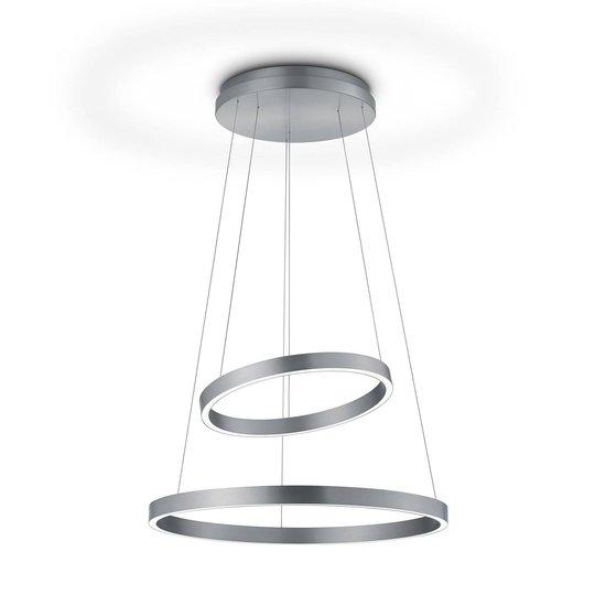 LED-hengelampe Lora-P nikkel, bevegelseskontroll