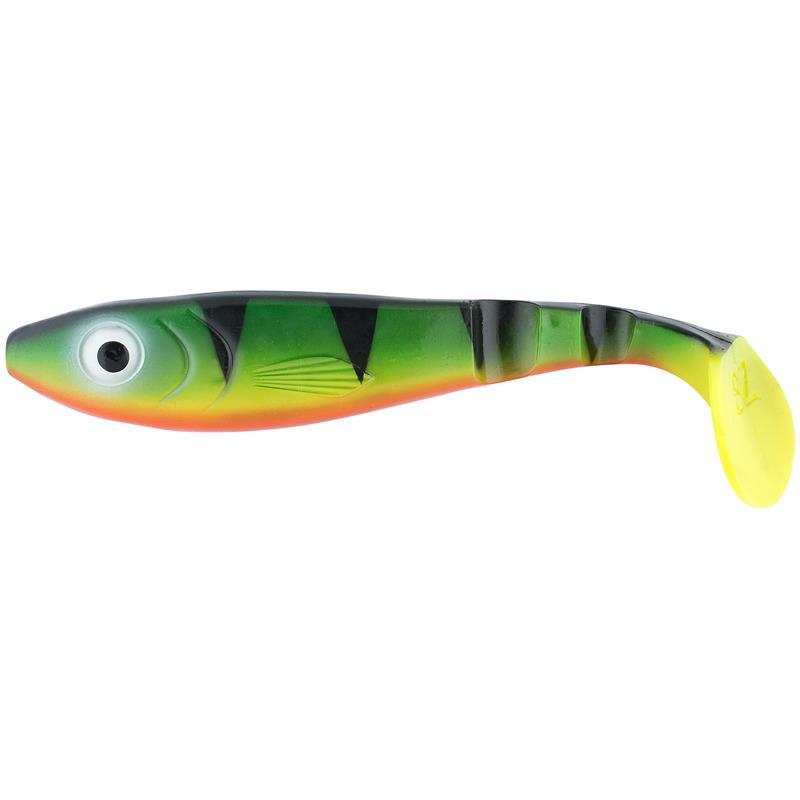 Svartzonker McPike Firetiger 25cm Skaper vibrasjoner på dyp og grunt vann