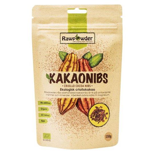 Rawpowder Ekologiska Kakaonibs Criollo, 150 g