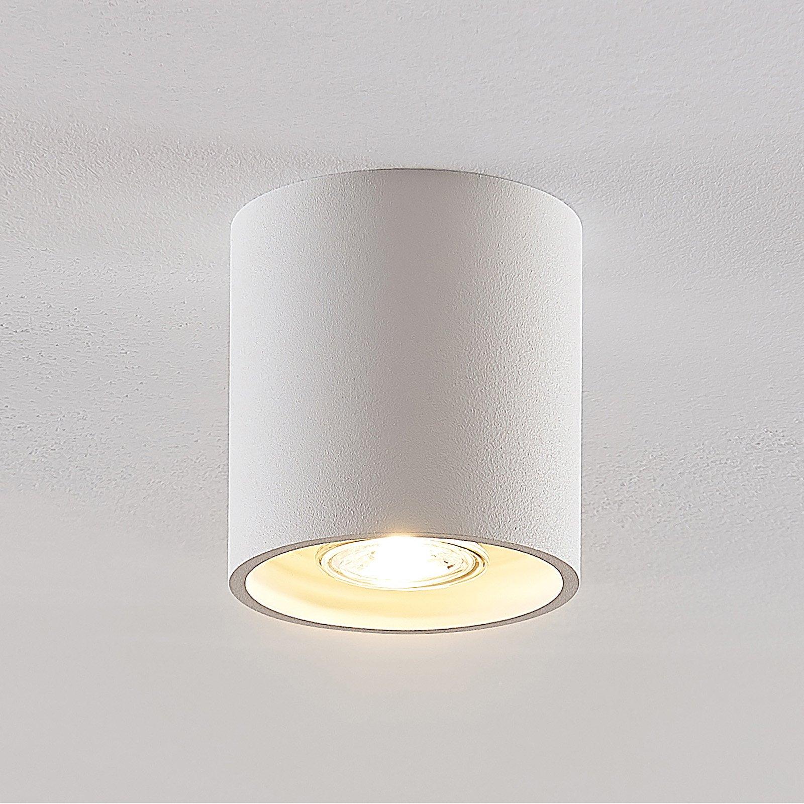 Lindby Parvin aluminium-downlight, rund, hvit